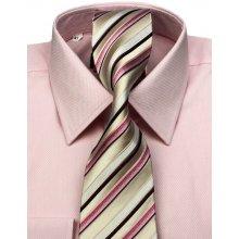 5c6ba92050e2 Klemon Ružová SLIM košeľa na manžetové gombíky