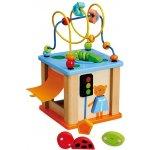 Baby mix Alexis edukačná hračka Kocka labyrint modrá
