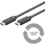 MicroConnect USB3.1CC0.5 USB3.1 Type C (M) - Type C (M), 0,5m, černý