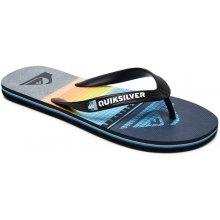 Quiksilver MOLOKAI HIGHLINES BLACK GREY BLUE detské žabky b6af3484091