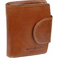 7b42b608e7 Dámska peňaženka s prackou z byvolej kože koňaková