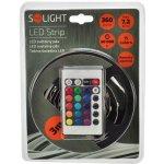 Solight LED světelný pás 3m RGB, sada s 12V adaptérem a ovladačem, 7,2W/m, IP20 WM55