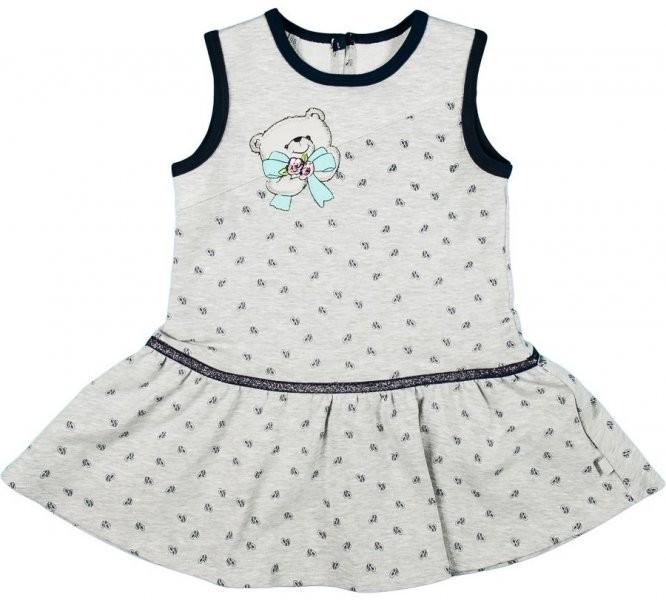 11ec27aeb6ce Dojčenské šatôčky a sukňa MMDadak Dievčenské šaty Medvedík - šedé ...