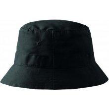 Adler Letný bavlnený čierny klobúk 81182
