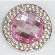 Háčik na kabelku Exclusive - ružovy s krystalmi