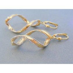 823ab6bec MARM Design zlaté visiace dámske náušnice žlté biele zlato VA468V ...