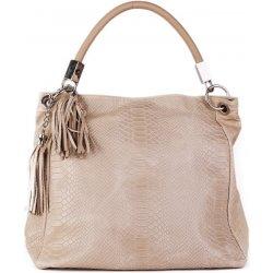 cf866ffd08 talianske kožené kabelky veľké na plece béžové Alessa alternatívy ...
