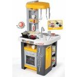 SMOBY 311000 elektronická kuchynka TEFAL STUDIO žlto-šedá so sódovkou a opečenými potravinami zvuková + 27 doplnkov