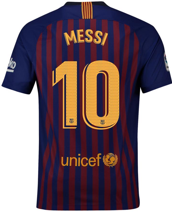 82f2ead57f1a1 Futbalový dres Nike FC Barcelona MESSI dres pánsky 2018 2019 domáci ...