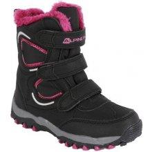 ALPINE PRO Dievčenské zimné topánky Haryko čierno-ružové