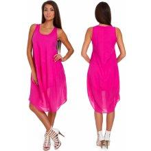 c49bce561 Nádherné módne letné bavlnené šaty BOHO ITALY TC665 Amarant