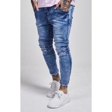 Jeans Illusive London Shredded Hem Denim Blue