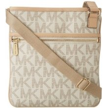 Michael Kors Cross-Body Jet Set Monogram Large Vanilla