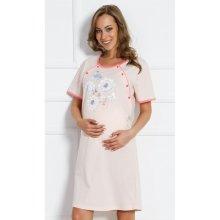 dámska materská nočná košeľa Kvetena marhuľová