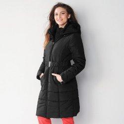 Blancheporte Dlhá prešívaná bunda s opaskom čierna alternatívy ... 432d61d6fb1