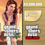 GTA 5 Online Whale Shark Cash Card 3,500,000$
