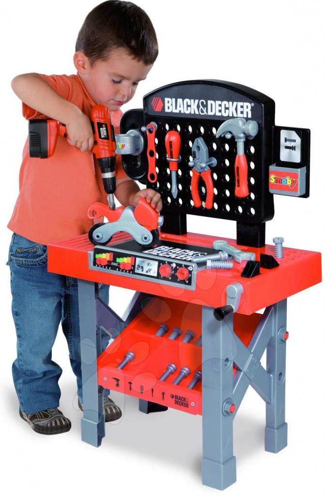dbbf2414e Smoby Black & Decker pracovný stôl s vŕtačkou a motorkou