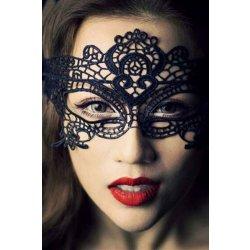 Čipkovaná maska čierna