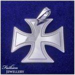 Strieborný prívesok maltézsky kríž (PŘS071)