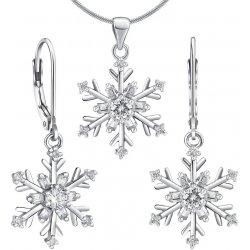 Set strieborných šperkov náušnice a prívesok snehová vločka JJJS0813C e52ad95e901