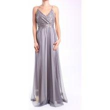 00568a0cfc5 Dámske spoločenské šaty dlhé (č. 38406) - strieborno-sivé D3