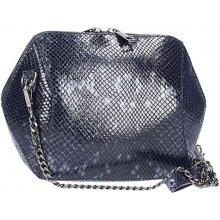 49b3f5973f kožená kabelka na rameno Serena tmavomodrá