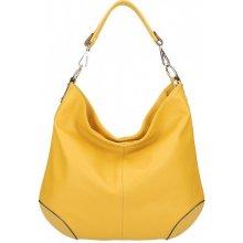 ce2e29dd09b1 dámska kožená kabelka na rameno 5308 okrová