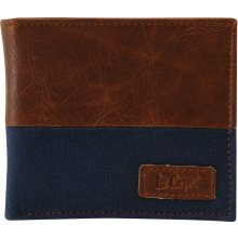 Lee Cooper Cut and Sew Wallet Navy/Tan N
