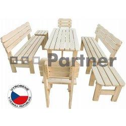 c0b129099f39 Masívny drevený záhradný nábytok (zostava z borovice TEA 1+6) drevo 38 mm
