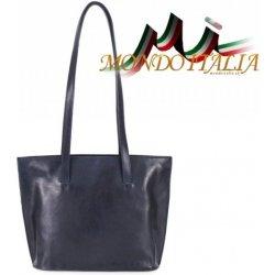 Made In Italy dámska kožená kabelka na rameno 766 modrá od 98 8a6766a8db2