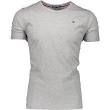 Tommy Hilfiger Pánske tričko T Shirt Grey Heather 0b93d3d5db0