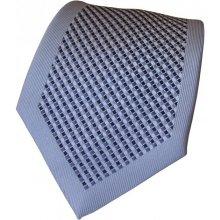 N.Ties Šedo-černá kravata se vzorem z mikrofáze