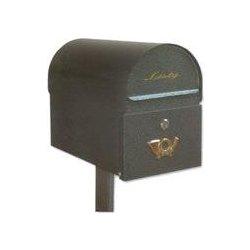 6561c501c schránka poštová RETRO 280x200x380mm, farba čierna matná, noha S-N1 je  samostat ná