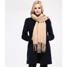 Dámsky bavlnený šál v 8 farbách 190 cm x 70 cm Krémová e5f4f82873