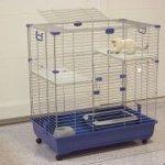 Marchioro klietka pre mačky Elsa 82 C2, modrá - 82x51x94cm