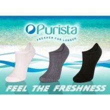 Purista Členkové antibakteriálne ponožky TAK čierna