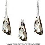 Set strieborný Wing Crystal Silver Night Swarovski Elements LSW142S