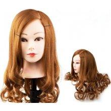 Elementrix cvičná hlava pro kadeřníky 80% lidský vlas