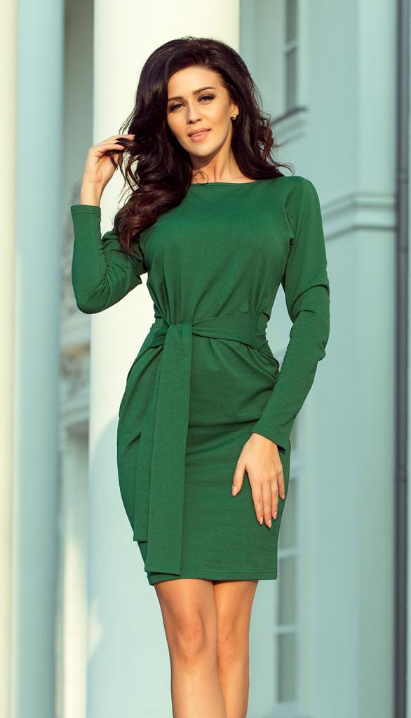 97655e30f0d2 Dámske šaty NUMOCO Zelené elegantné dámske šaty 209-2 - Zoznamtovaru.sk