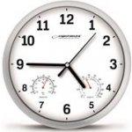 Esperanza EHC016W LYON nástenné hodiny, teplomer + vlhkomer, biele