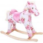 Bigjigs Toys Bigjigs dřevěný houpací kůň s květy