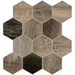 Dom Dlažba Barn Wood grey hexagon 35x37,5 cm, mat, rektifikovaná DBWEM40