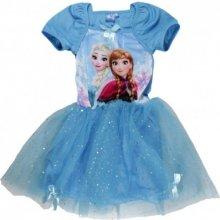 Dievčenské šaty Frozen fialové a modré fialová