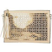 b5c8875c9f0a spoločenská kabelka s retiazkou Žlto-krémová