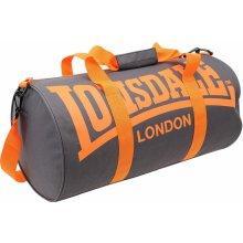 Lonsdale Barrel bag Charcoal/Orange