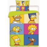 Jerry fabrics Obliečky Simpsons square bavlna 140x200 70x90