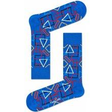 Happy Socks Modré ponožky s farebnými tvarmi d3ba0dfff0