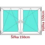 Soft Dvojkrídlové plastové okno 150x150 cm, OS+OS, so stĺpikom