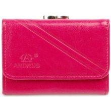 562068362 Andrus 12b dámska kožená peňaženka Růžová