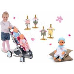 73c76cdc4 Smoby pre bábiku Maxi Cosi & Quinny Twin a bábika so šatami Baby Nurse  521590-